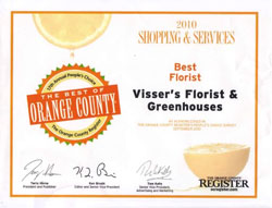 Voted Best of Orange County 2010