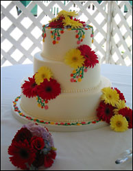 Visser's Cake With Flowers from Visser's Florist and Greenhouses in Anaheim, CA