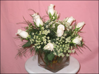 Visser's White Roses from Visser's Florist and Greenhouses in Anaheim, CA