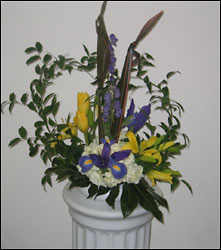 Visser's Stylized Centerpiece from Visser's Florist and Greenhouses in Anaheim, CA