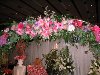 Wedding Show Arch from Visser's Florist and Greenhouses in Anaheim, CA