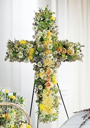 Angel's Cross Easel from Visser's Florist and Greenhouses in Anaheim, CA