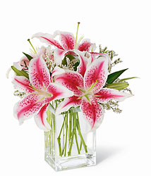 Pink Lily Bouquet from Visser's Florist and Greenhouses in Anaheim, CA