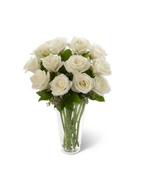 White Rose Bouquet from Visser's Florist and Greenhouses in Anaheim, CA