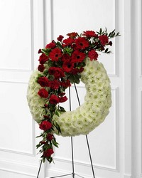 Graceful Tribute Wreath from Visser's Florist and Greenhouses in Anaheim, CA