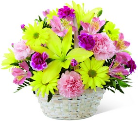 Basket of Cheer Bouquet from Visser's Florist and Greenhouses in Anaheim, CA