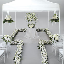 White Elegant Ceremony from Visser's Florist and Greenhouses in Anaheim, CA