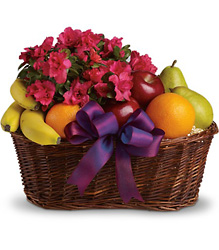 Fruits and Blooms Basket from Visser's Florist and Greenhouses in Anaheim, CA