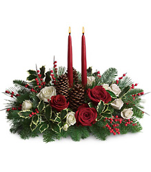 Christmas Wishes Centerpiece from Visser's Florist and Greenhouses in Anaheim, CA