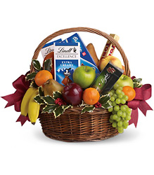 Fruits and Sweets Christmas Basket from Visser's Florist and Greenhouses in Anaheim, CA