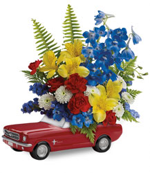 '65 Ford Mustang Bouquet  from Visser's Florist and Greenhouses in Anaheim, CA