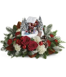 Thomas Kinkade's Snowfall Dreams Bouquet from Visser's Florist and Greenhouses in Anaheim, CA