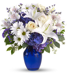 Beautiful in Blue from Visser's Florist and Greenhouses in Anaheim, CA
