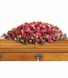 A Life Loved Casket Spray from Visser's Florist and Greenhouses in Anaheim, CA