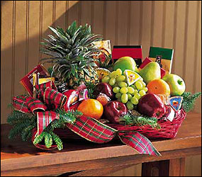 Fruit and Gourmet Basket from Visser's Florist and Greenhouses in Anaheim, CA