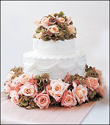 Sweet Visions Wedding Cake Decoration from Visser's Florist and Greenhouses in Anaheim, CA