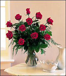 Orange County Flower Shop - Dozen Red Roses